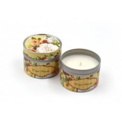 Dotek sametu - svíčka v plechovce