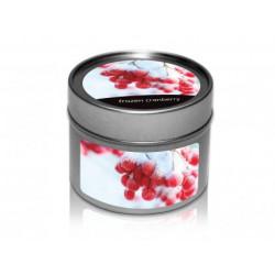 svíčka v plechovce - Zmrzlá brusinka